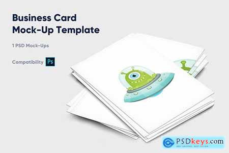 Business Card Mock-Up Template - Vol4