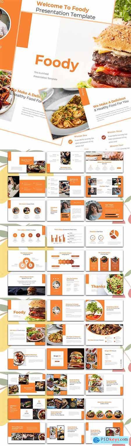 Foody – Food Powerpoint, Keynote and Google Slide Template