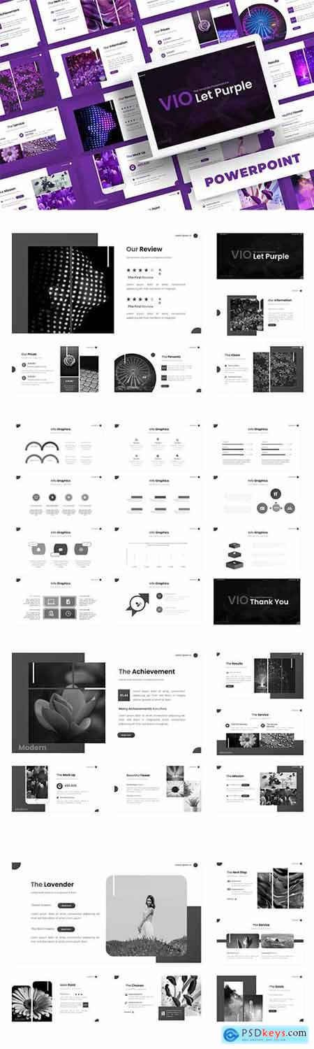 Violet Purple - Powerpoint, Keynote and Google Slide Template