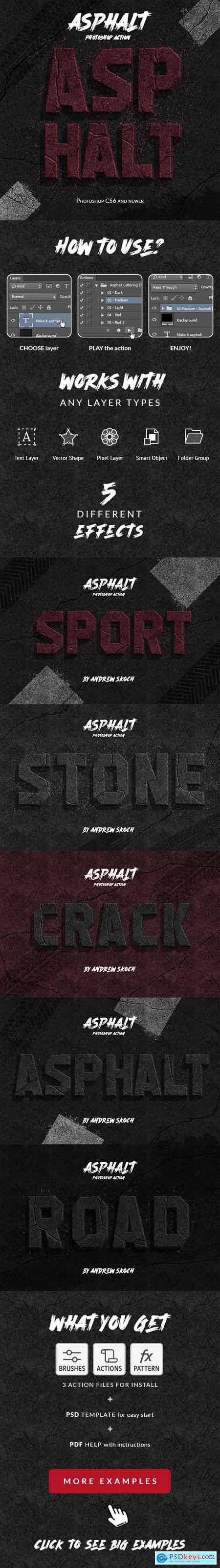 Asphalt - Photoshop Action 26088344