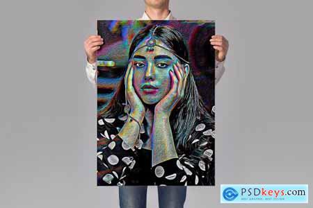 Colorful Paint Art Photoshop Action 4485687