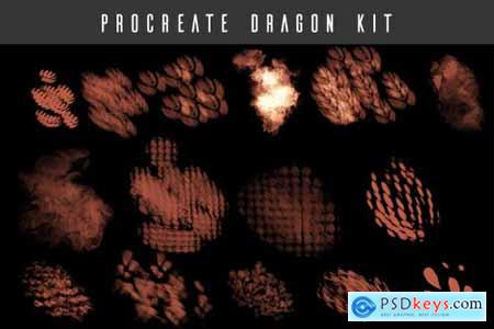 Procreate Dragon Brush Kit 4649727