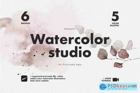 Realistic Procreate Watercolor Kit 4696269