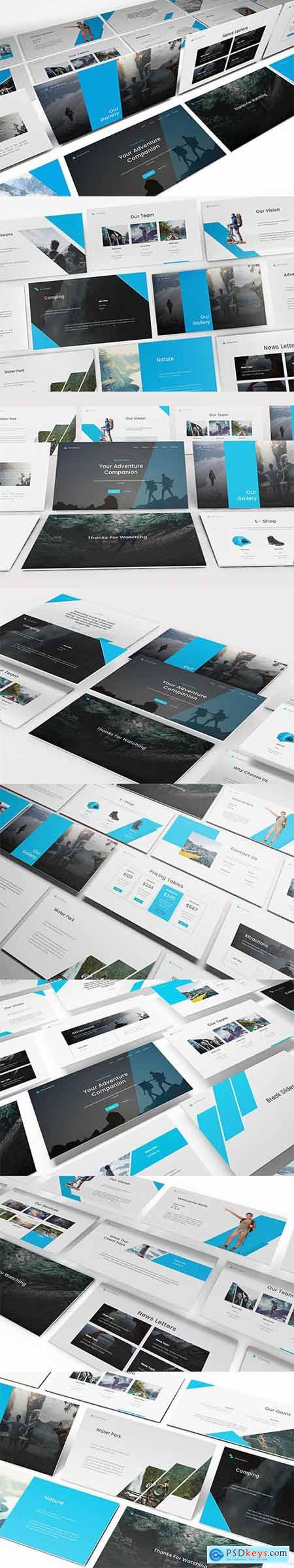 Oriora Adventure Powerpoint, Keynote and Google Slide Template