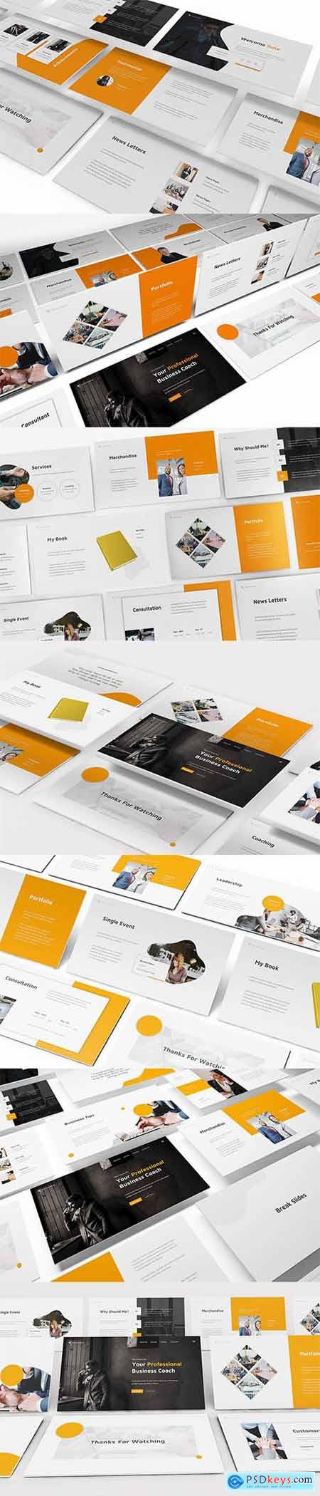 Business Coach Powerpoint, Keynote and Google Slide Template