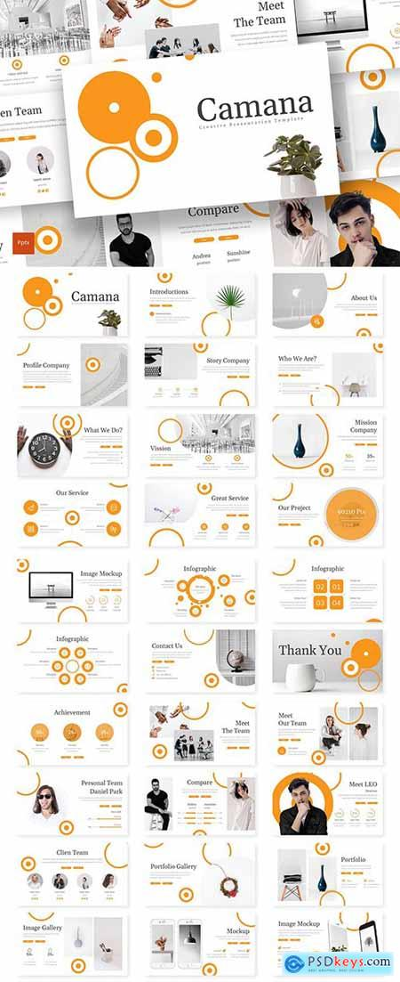 Camana - Powerpoint, Keynote and Google Slide Template