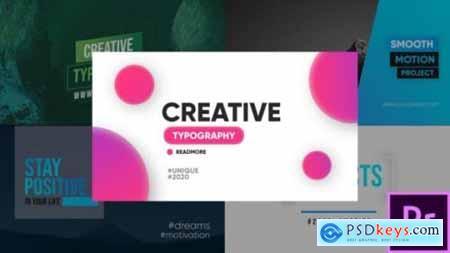 Creative Typography Premiere Pro 26180976