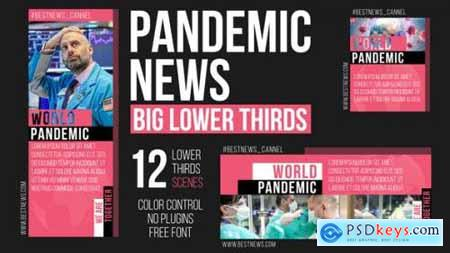 Pandemic News Big Lower Thirds 26144558