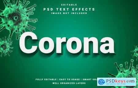 Covid-19 corona virus text effect