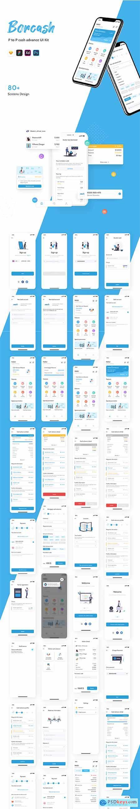 Borcash - P2P Lending UI Kit