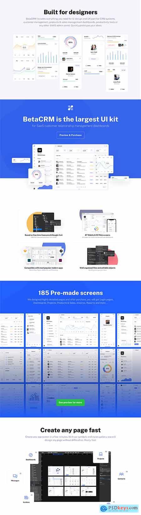 BetaCRM UI Kit