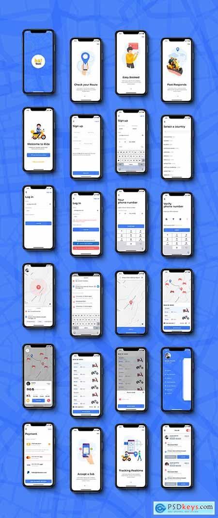 Hai Bike Taxi Booking UI kit for Mobile App
