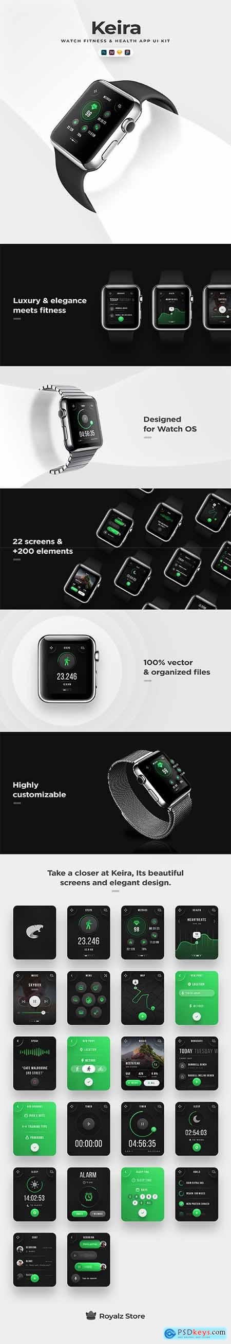 Keira - Watch UI Kit