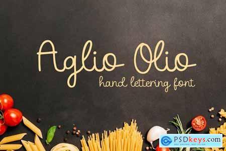 Aglio Olio - Hand Lettering Font