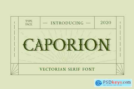 CAPORION Vectorian Serif Font
