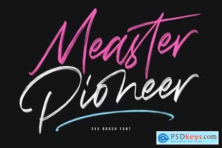 Measter Pioneer SVG Brush Font