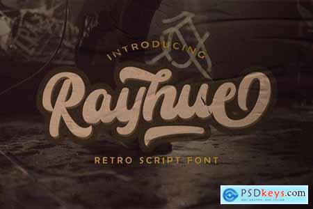 Rayhue - Retro Bold Script Font 4702556