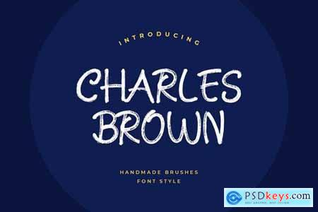 Charles Brown Handmade Brush Font