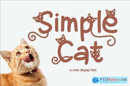 Simple Cat - Cute Display Font