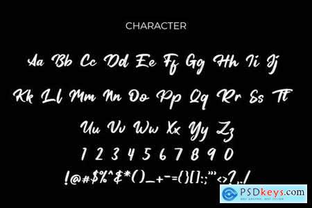 Tersanjung Modern Script Brush Font