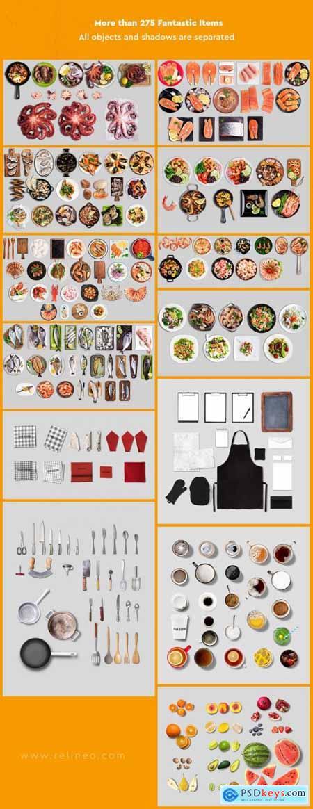 Seafood Scene and Mockup Creator 3738217