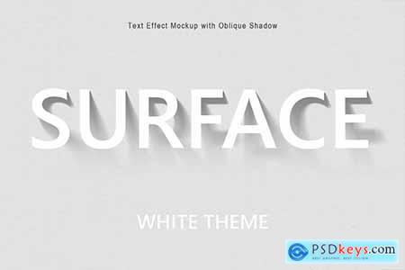 Text Effect Mockup with Oblique Shadow 26027279