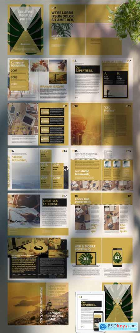Portfolio Layout with Tan Accents 334582588