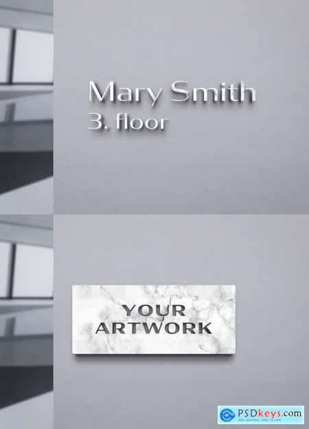 Marble Sign Logo Mockup on Concrete Wall 334588115