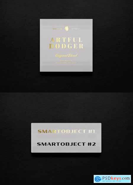 Marble Sign Logo Mockup with Gold Foil 334586683