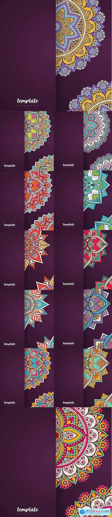 Creative Luxury Mandala Background Set