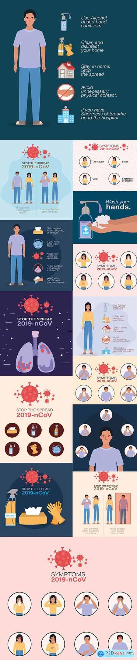 2019 Ncov Virus Symptoms Design Covid-19 Coronavirus Infection