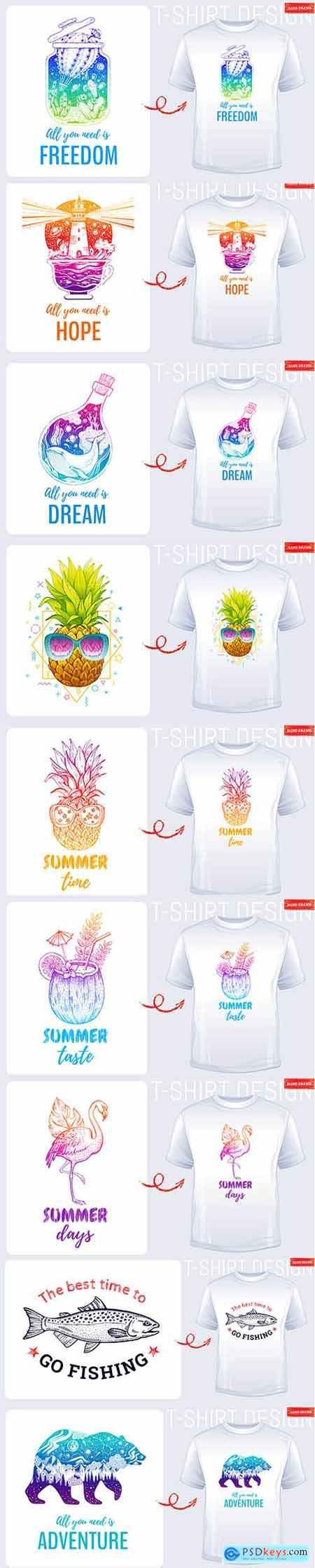 Summer T-shirt Print Illustration Collection