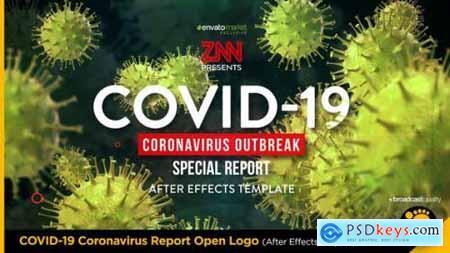 COVID-19 Coronavirus Report Open Logo 26080512