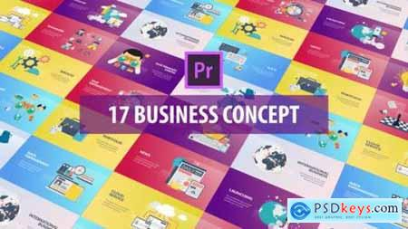 Business Concept Flat Animation (MOGRT) 26215849