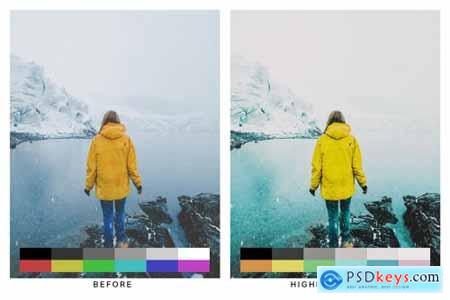 50 Teal & Yellow Lightroom Presets and LUTs 4747346