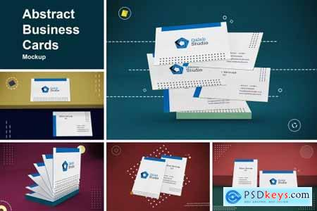 Abstract Business Cards Mockup 4657804