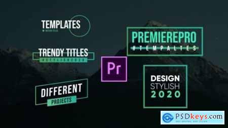 Modern Titles- Premiere Pro 26209461