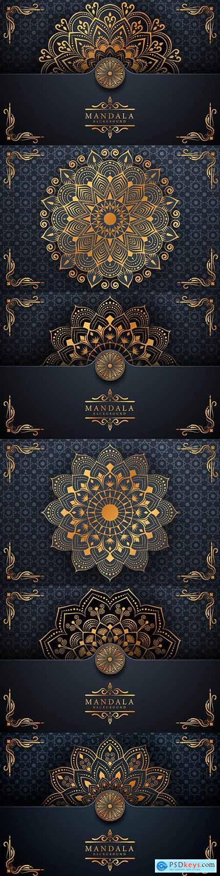 Mandala creative luxury arabesky design background 2