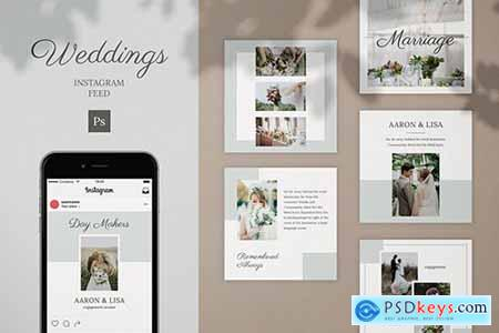 Wedding Instagram Feed Post Template