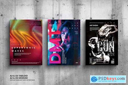 Music Event Big Poster Design Set623