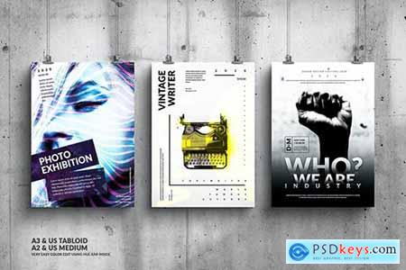 Music Event Big Poster Design Set