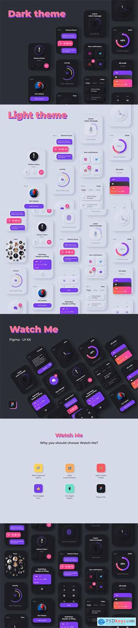 Watch Me - Watch UI Kit