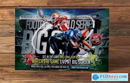 Big Clash Football Flyer 4666766