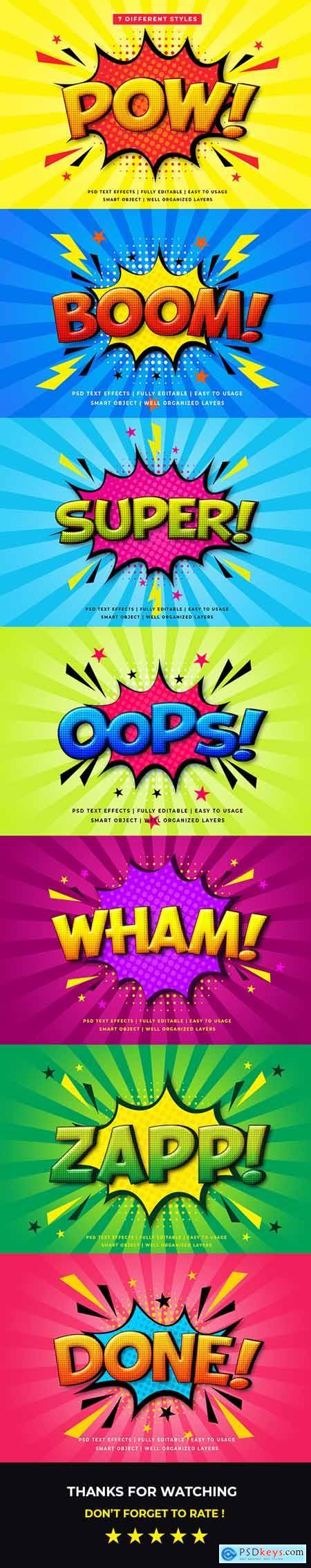Comic Speech 3d Text Style Effect Mockup V.2 26165028
