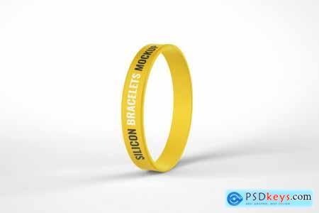 Silicone Rubber Bracelet Mockup 4774396