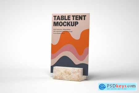 Table Tent and Sign Mockup Set 4774247