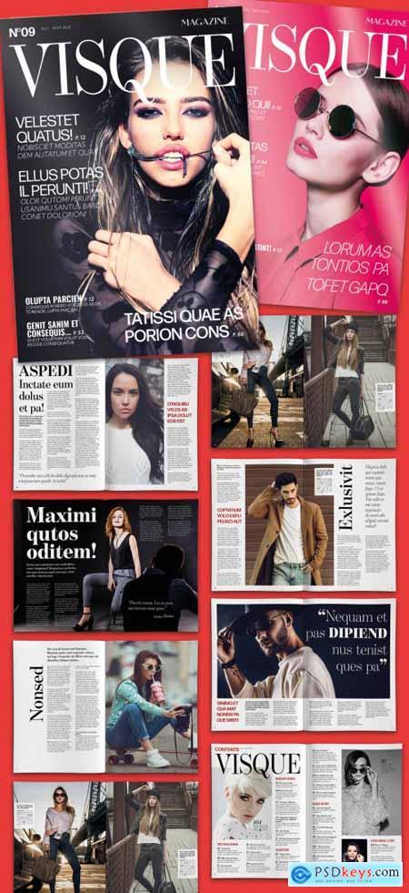 Fashion and Lifestyle Magazine Design Layout 335320103