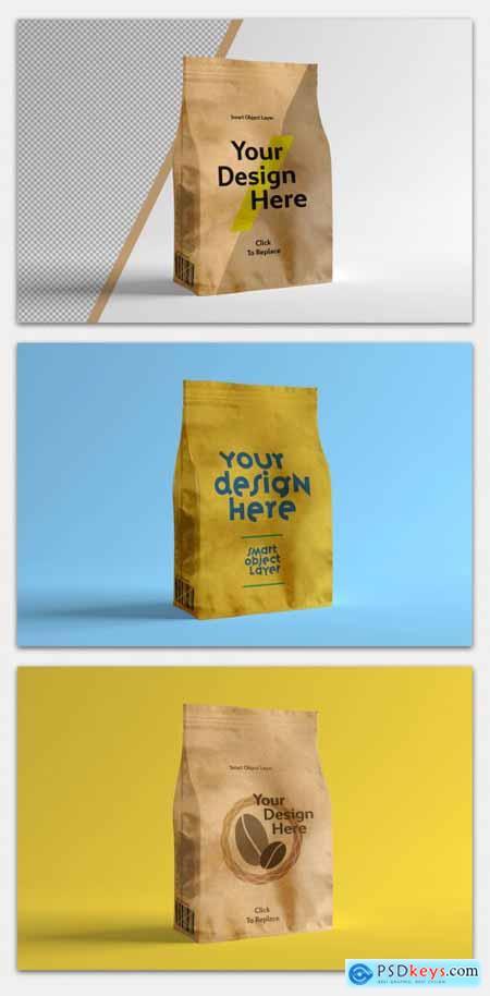 Craft Paper Sachet Foil Mockup 335104051
