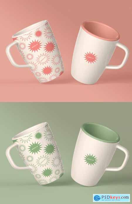 2 Coffee Mugs Mockup 334814717