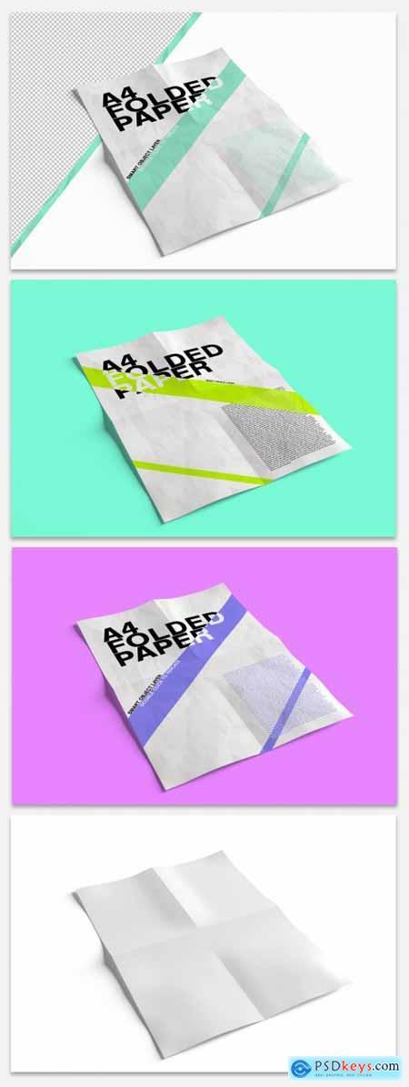 Bent Sheet of Paper Mockup 335103166
